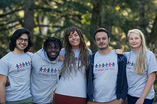 PEERS - 2017, Left to Right - Armand, Georges, Heather, Francisco, Kayla